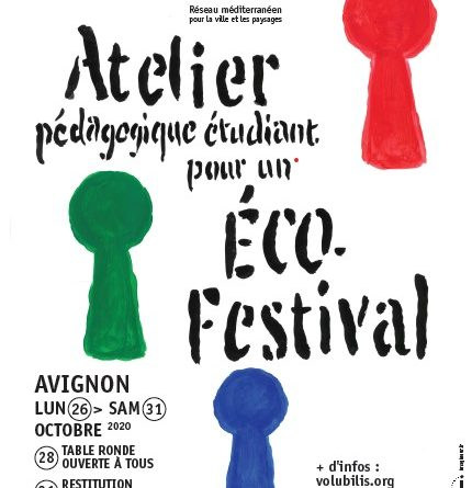 Affiche Workshop 2020 - Un atelier pour l'éco-festival