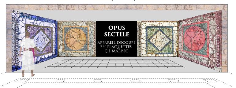 Projection murale des mosaïques sur le site de Carthage imaginée par les étudiants